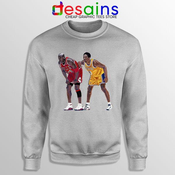 Kobe Jordan Real GOAT Sport Grey Sweatshirt NBA Legend