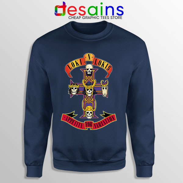 Loki Appetite for Destruction Navy Sweatshirt Guns N Roses