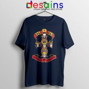 Loki Appetite for Destruction Navy T Shirt Guns N Roses