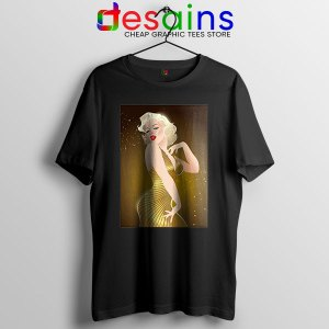 Marilyn Monroe Gold Smile T Shirt Sexy Actress