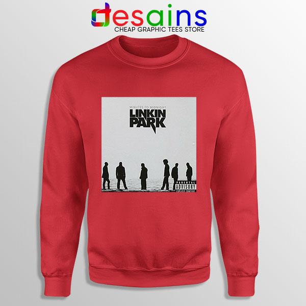 Minutes to Midnight Cover Art Red Sweatshirt Linkin Park