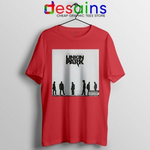 Minutes to Midnight Cover Art Red T Shirt Linkin Park