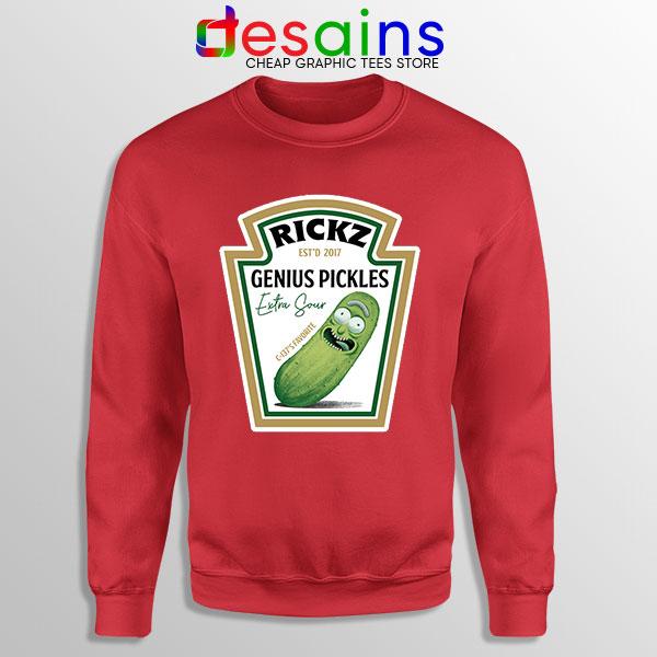 Pickle Rick Heinz logo Red Sweatshirt Rick and Morty