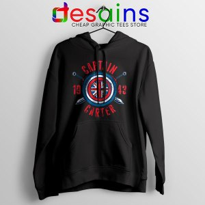 Shield Captain Carter Black Hoodie What If Series