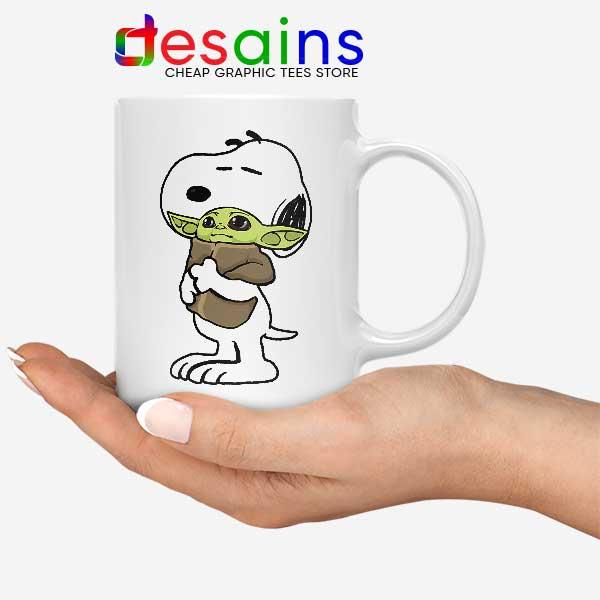 Snoopy Baby Yoda Friends Mug Funny Mandalorian