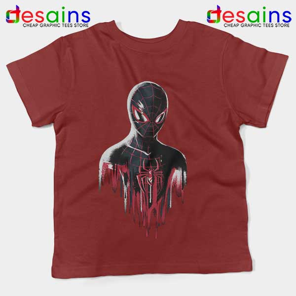 Spider Man Into Multiverse Red Kids Tee Marvel Comics