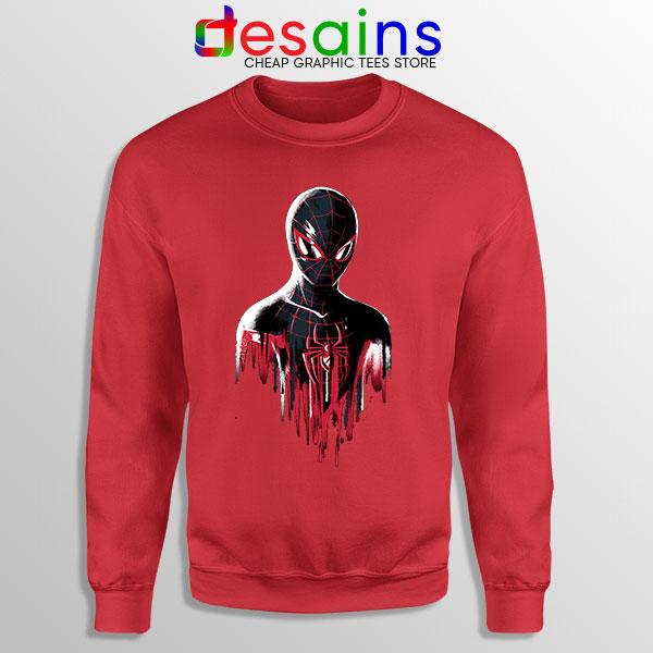 Spider Man Into Multiverse Red Sweatshirt Marvel Comics