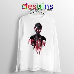 Spider Man Into Multiverse White Long Sleeve Tee Marvel