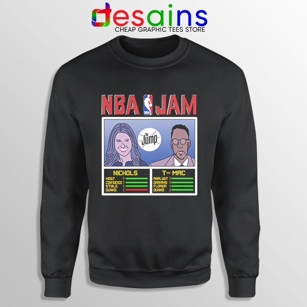 The Jump NBA Finals Black Sweatshirt Nichols TMac