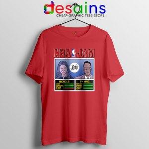 The Jump NBA Finals Red T Shirt Nichols TMac