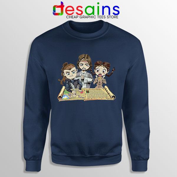 The Last Kingdom Chibi Navy Sweatshirt Netflix Tv Series