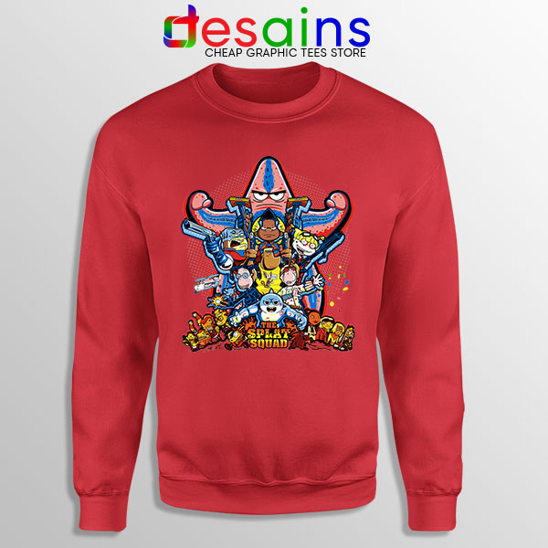 The Splat Suicide Squad Red Sweatshirt Nicksplat Shows