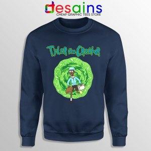 Tyler Creator Rick Morty Navy Sweatshirt Rapper Cartoon