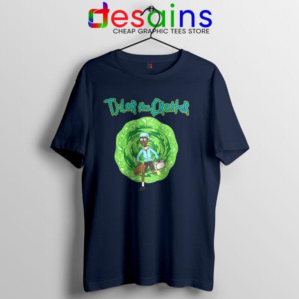 Tyler Creator Rick Morty Navy T Shirt Rapper Cartoon