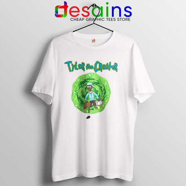 Tyler Creator Rick Morty White T Shirt Rapper Cartoon