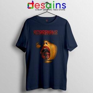 Vintage Scorpions Merch Navy T Shirt Rock Band