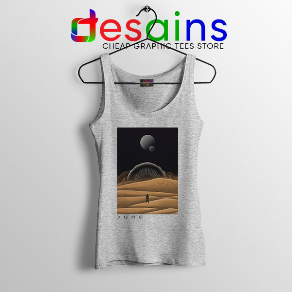 Arrakis Dune Desert Art Sport Grey Tank Top Planet Deserts