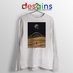 Arrakis Dune Desert Sport Grey Long Sleeve Tee Planet Dune