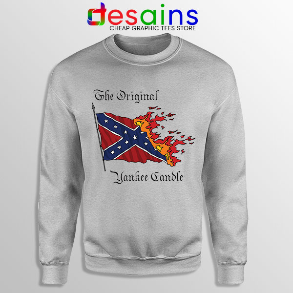 Best Original Yankee Candle Flag Sport Grey Sweatshirt American