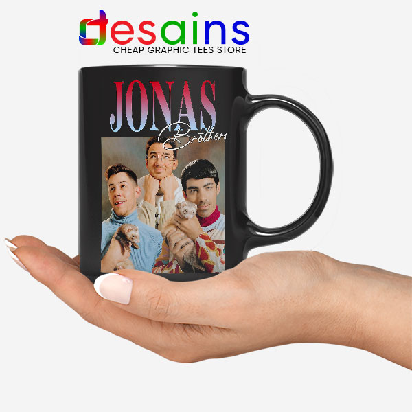 Buy Jonas Brothers Merch Retro Black Mug Jobros