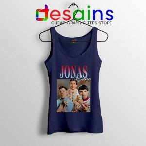 Buy Jonas Brothers Merch Retro Navy Tank Top Jobros