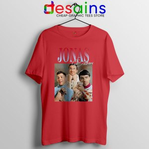 Buy Jonas Brothers Merch Retro Red T Shirt Jobros