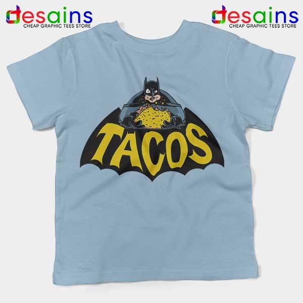 Buy Tacos Taco Bell Batman Light Blue Kids Tee DC Comics