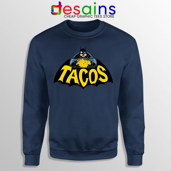 Buy Tacos Taco Bell Batman Navy Sweatshirt DC Comics