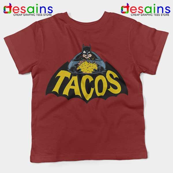 Buy Tacos Taco Bell Batman Red Kids Tee DC Comics