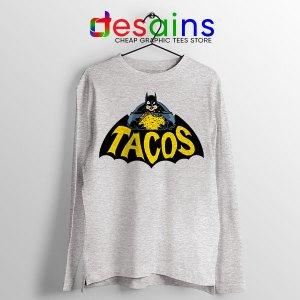 Buy Tacos Taco Bell Batman Sport Grey Long Sleeve Tee DC Comics