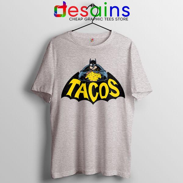Buy Tacos Taco Bell Batman Sport Grey Tshirt DC Comics Funny