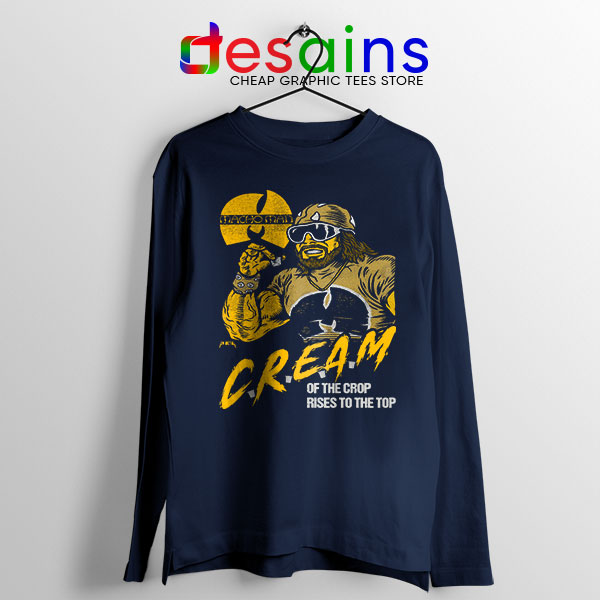 Cream of the Crop Navy Long Sleeve Tee Macho Man Wu Tang
