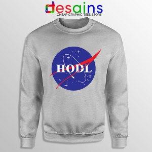 Crypto HODL NASA logo Sport Grey Sweatshirt Meme