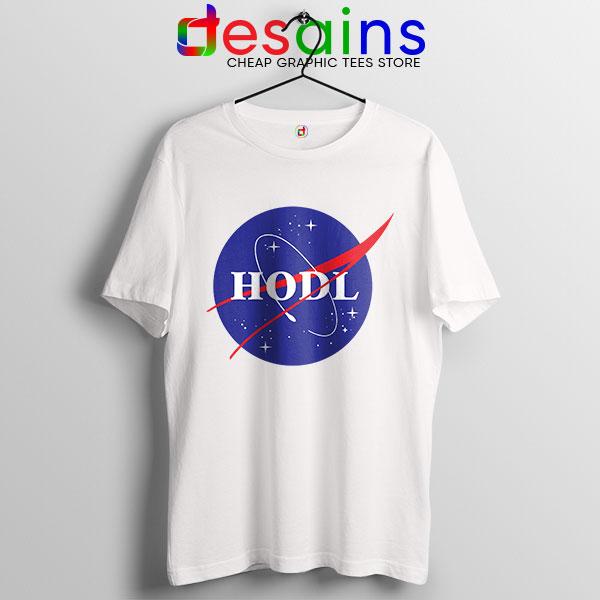 Crypto HODL NASA logo T Shirt Meme