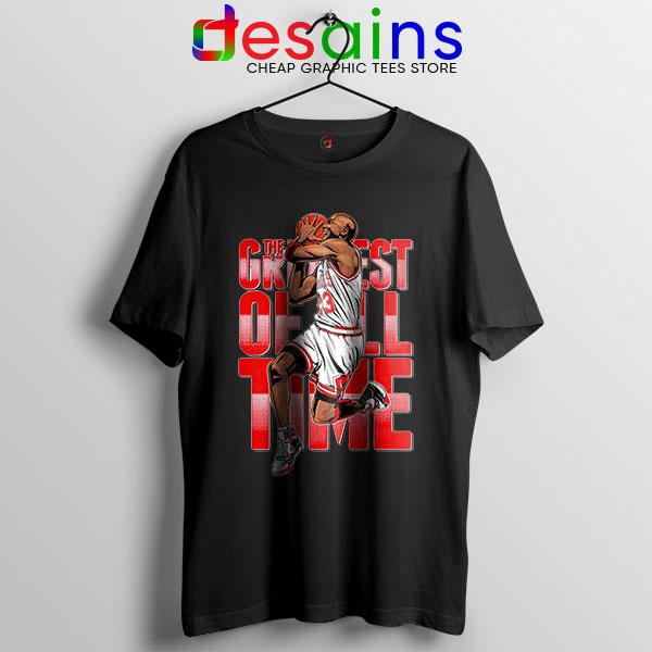 GOAT Michael Jordan Fire Red Black Tshirt Retro NBA