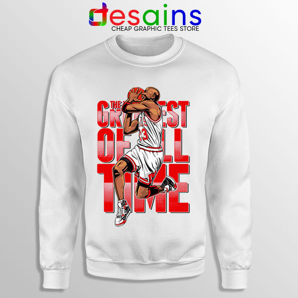 GOAT Michael Jordan Fire Red Sweatshirt Retro NBA