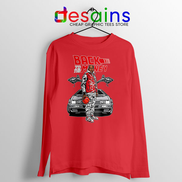 Jordan Back to the DeLorean Red Long Sleeve Tee To Nike Air