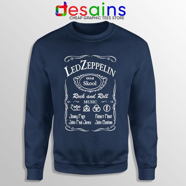 Led Zepelin Whiskey Navy Sweatshirt Old School Daniels