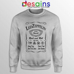 Led Zepelin Whiskey Sport Grey Sweatshirt Old School Daniels