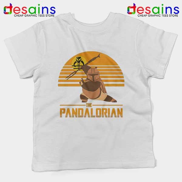 Master Po Mandalorian White Kids Tee Kung Fu Panda