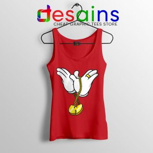 Mickey Gloves Wu Tang Chain Red Tank Top Cheap Funny