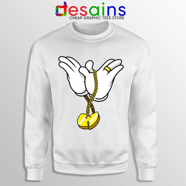 Mickey Gloves Wu Tang Chain White Sweatshirt Cheap Funny
