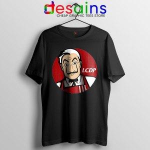 Money Heist The Masks Black Tshirt Funny KFC Logo