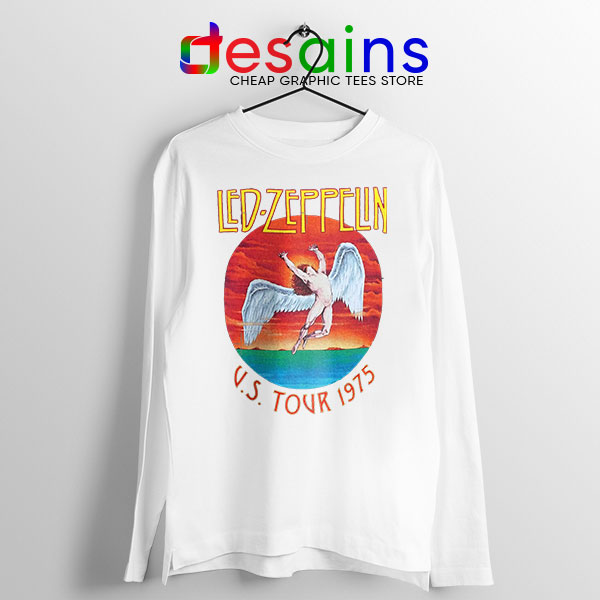 North American Tour 1975 WHite Long Sleeve Tee Led Zeppelin