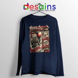 Pennywise The Clown Bobblehead Navy Long Sleeve Tee IT Movie