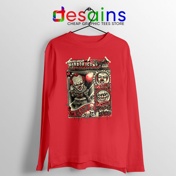 Pennywise The Clown Bobblehead Red Long Sleeve Tee IT Movie