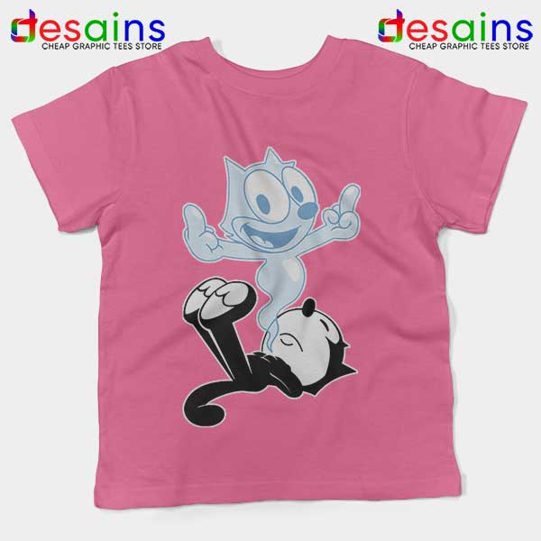 RIP the Cat Felix Funny Pink Kids Tee Cartoon Characters
