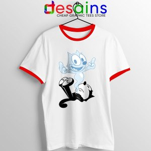 RIP the Cat Felix Funny Red Ringer Tee Cartoon Characters