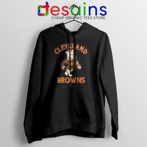 Retro Symbol Cleveland Browns Black Hoodie NFL