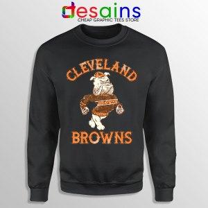 Retro Symbol Cleveland Browns Black Sweatshirt NFL